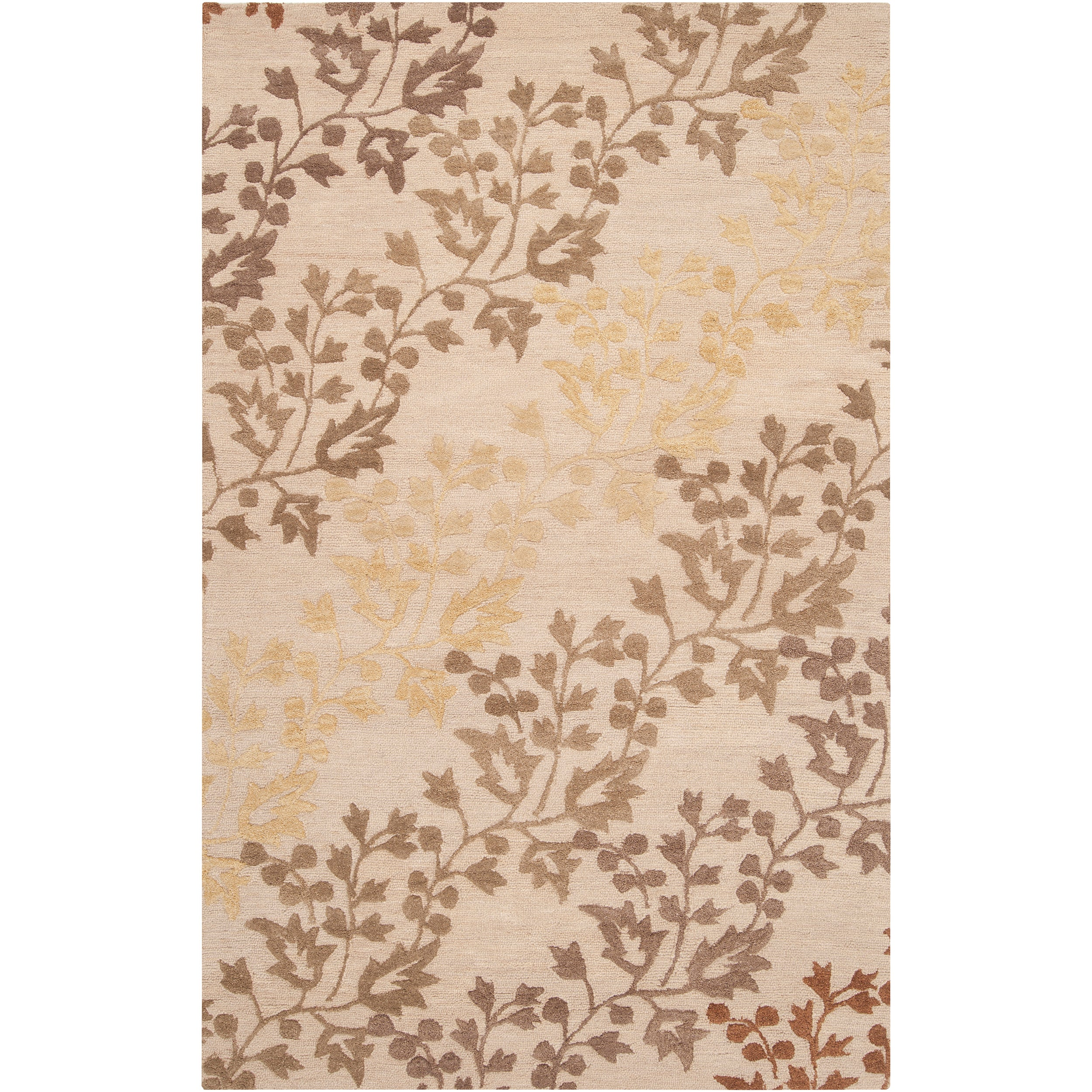 Hand-tufted Beige Belle Towers New Zealand Wool Rug (3'3 x 5'3)