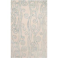 """Somerset Bay Hand-Tufted Bacelot Bay Ivory Beach-Inspired Wool Abstract Rug (3'3"""" x 5'3"""")"""