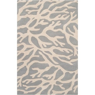 Somerset Bay Hand-Tufted Bacelot Bay Casual Grey Beach-Inspired Wool Rug (5' x 8')
