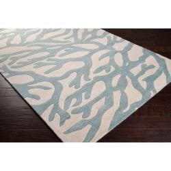 Somerset Bay Hand-tufted Bacelot Bay Blue Beach Inspired Wool Rug (5' x 8')