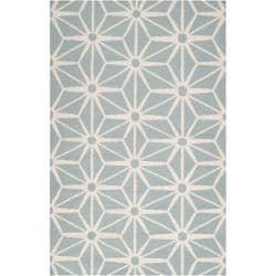 Jill Rosenwald Hand-Woven Grey Geometric Faller Wool Rug (8' x 11')