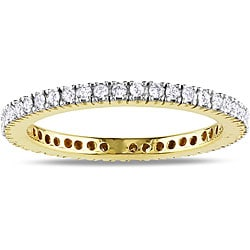 Miadora 14k Yellow Gold 1/3ct TDW Diamond Band (G-H, SI1-SI2)