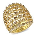 Miadora 18k Yellow Gold 2 1/8ct TDW Brown Diamond Ring