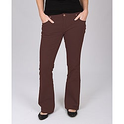 Dickies Women's Brown Slim-fit Canvas Bootcut Pant