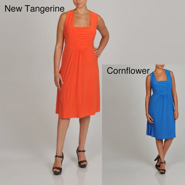 Lennie for Nina Leonard Womens Plus Sleeveless Jersey Dress