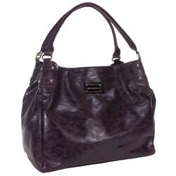 Amy Michelle Zebra Eggplant Diaper Bag