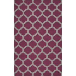 Hand-woven Purple Caroni Wool Rug (8' x 11')