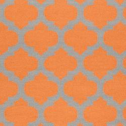 Hand-woven Orange Caroni Wool Rug (3'6 x 5'6)