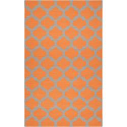 Hand-woven Orange Caroni Wool Rug (3'6 x 5'6)