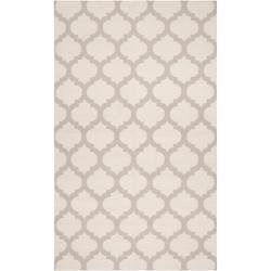 Hand-woven Ivory Caroni Wool Rug (3'6 x 5'6)