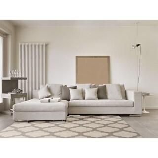 Hand-woven Ivory Moroccan Trellis Caroni Wool Area Rug (8' x 11')
