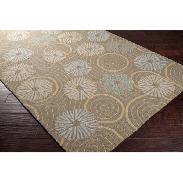 Hand-hooked 'Yarra' Grey Indoor/Outdoor Floral Rug (8' x 10')