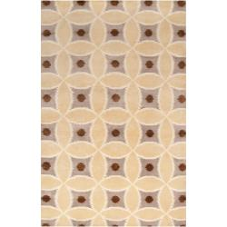 Hand-knotted 'Diego Martin'Brown Wool Rug (8' x 11')