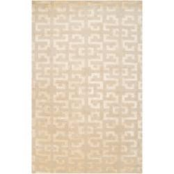 Hand-knotted 'Diego Martin' Tan Wool Rug (8' x 11')