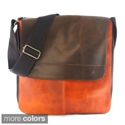 Handy Leather Flap-over-top Messenger Bag (Colombia)