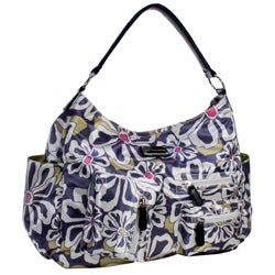 Amy Michelle Lotus Charcoal Floral Diaper Bag