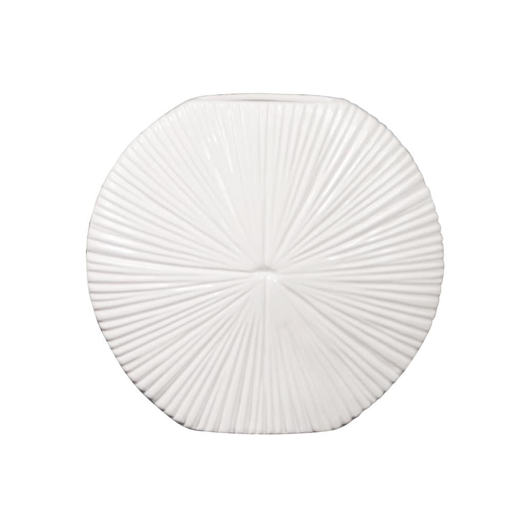 White 9-inch Ceramic Vase
