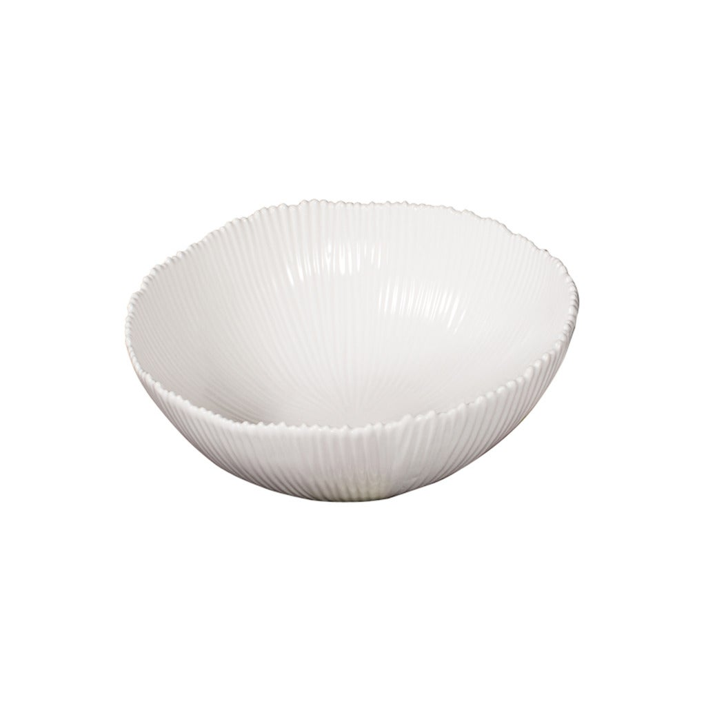 White 8-inch Ceramic Bowl