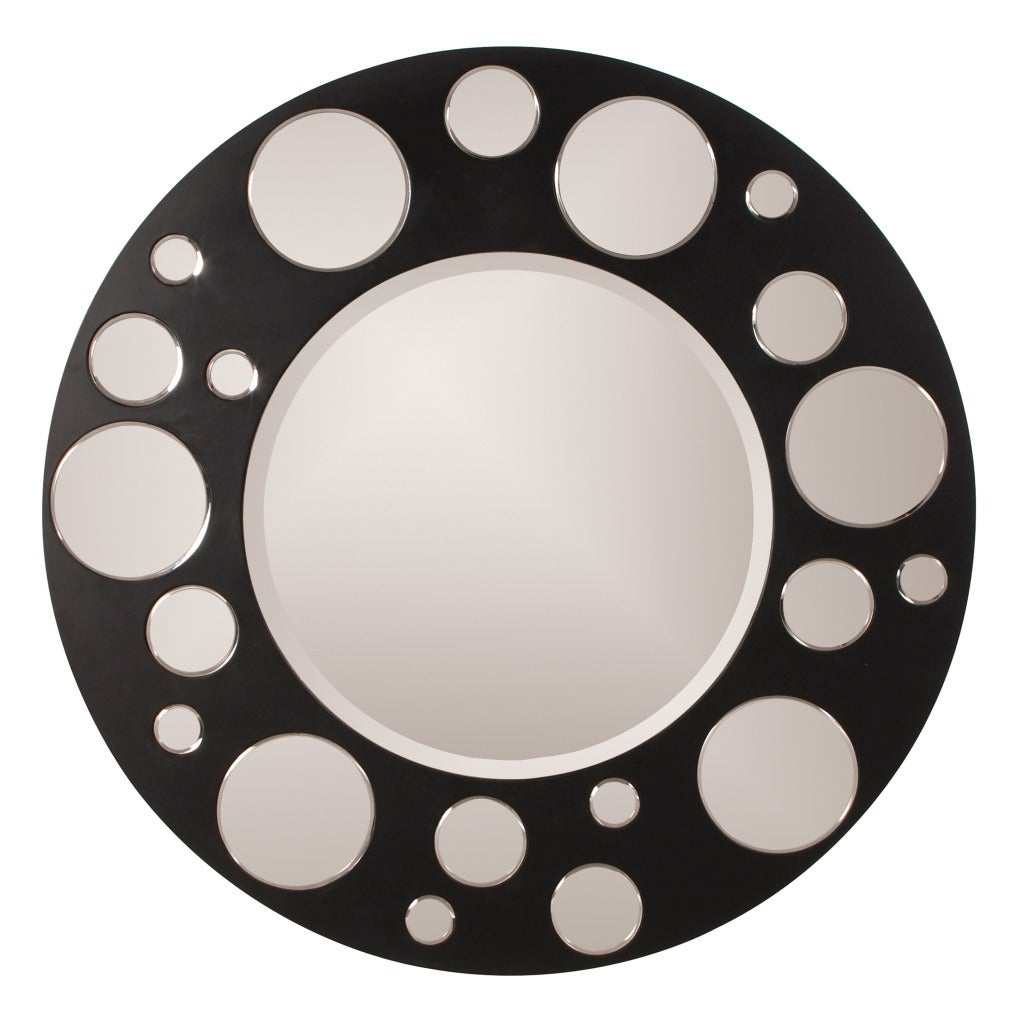 Silver/Black Encore Mirror