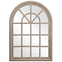Windowpane Taupe Mirror