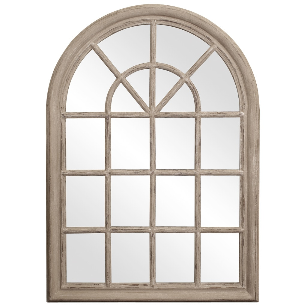 Windowpane taupe mirror 14306761 Window pane mirror