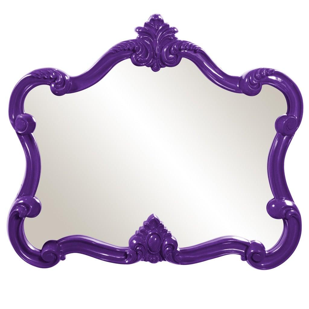 Glossy Purple Veruca Mirror