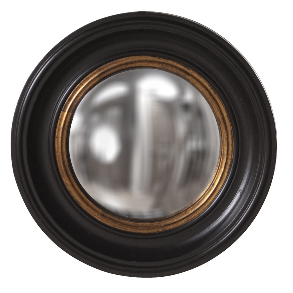 Albert Convex Black Mirror 14306772 Overstock Com