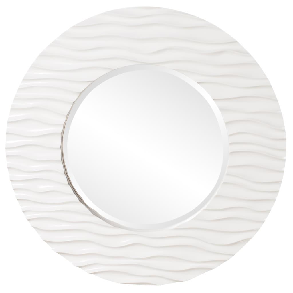 Broadway Round White Resin Mirror