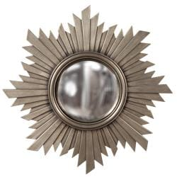 Convex Brushed Aged Nickel Mirror