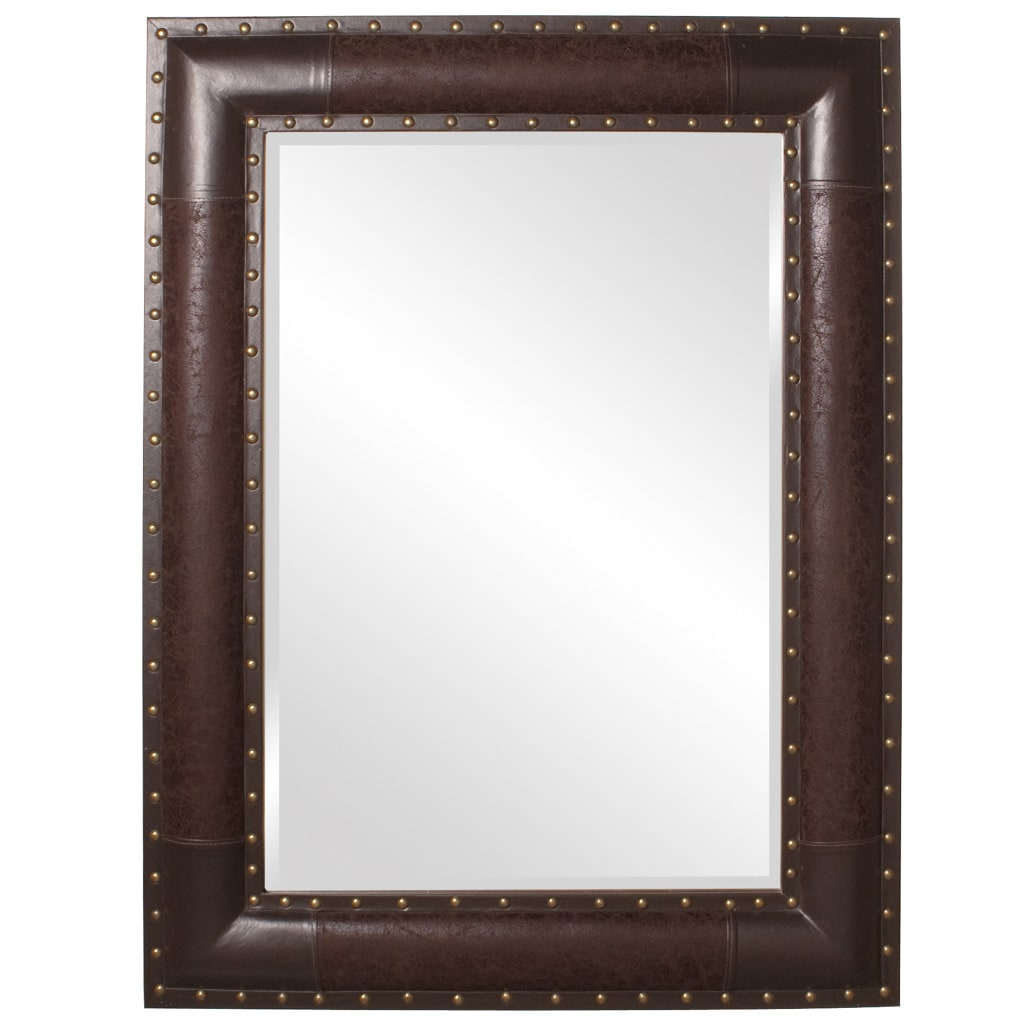 Faux Leather Mirror