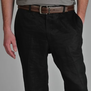 U and I Men's Black Linen Pants