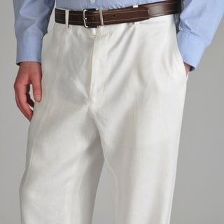 U and I Men's White Linen Pants