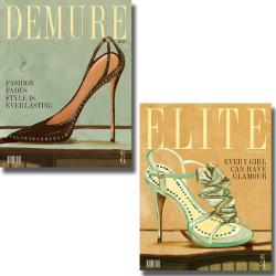 Hakimpour-Ritter 'Demure and Elite Magazine' 2-piece Canvas Art Set
