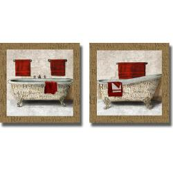 Elizabeth Medley 'Crazed Relaxation I and II' 2-piece Canvas Art Set