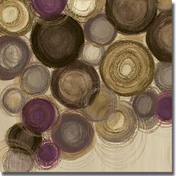 Jeni Lee 'Purple Whimsy Square II' Canvas Art