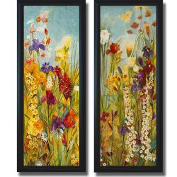 Jill Martin 'Merriment I and II' Framed 2-piece Canvas Art Set