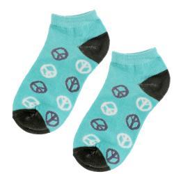 Julietta Women's Peace Sign Ankle Socks