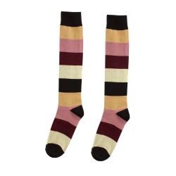 Yelete Women's Striped Knee High Socks