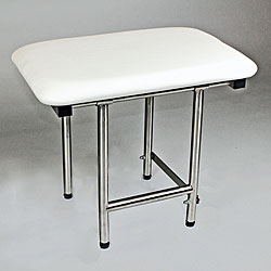 ADA Compliant Folding Shower Seat CSI Bathware 22 x 16 Padded Shower Seat with Swing Down Legs