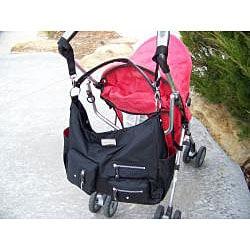 Amy Michelle Lotus Black Twill Diaper Bag