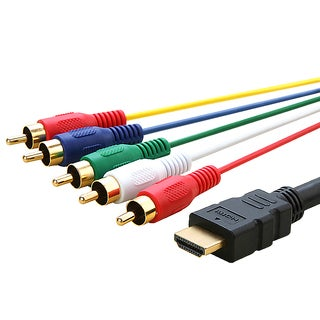 Five-foot HDMI to Five RCA Audio/Video Component Strain-relief Cable
