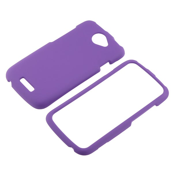 Purple Snap-on Rubber Coated Case for HTC One S
