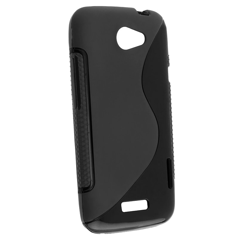 INSTEN Smoke Circle TPU Rubber Skin Phone Case Cover for HTC One X