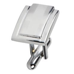 Silver Rectangle Version 2 Cufflinks (Set of 2)