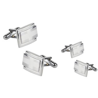 Zodaca Silver Rectangle Version 2 Cufflinks (Set of 2)