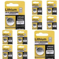 Lithium Coin Battery CR2032 (Pack of 10)