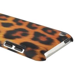 Golden Leopard Rubber Coated Case for Apple iPod Touch Generation 4