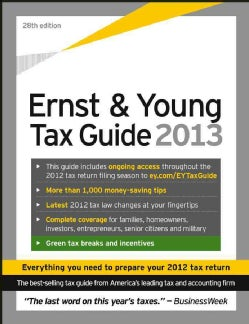 Ernst and Young Tax Guide 2013 (Paperback)