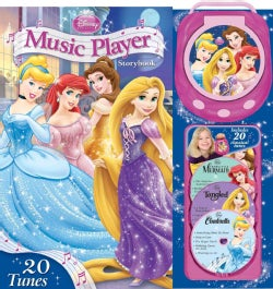 Disney Princess Music Player Storybook: Cinderella, Tangled, the Little Mermaid, Beauty and the Beast (Hardcover)