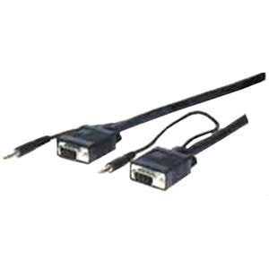 Comprehensive Pro AV/IT Series VGA w/Audio HD15 pin Plug to Plug Cabl